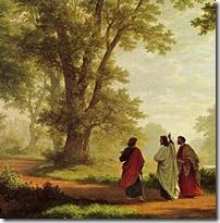 Jesus caminha com os homens