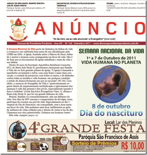 Capa Jornal Anúncio