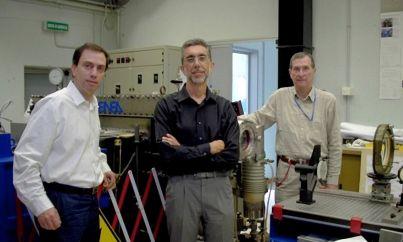Equipe da ENEA: Daniele Murra, Paolo Di Lazzaro e  Giuseppe Baldacchini