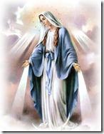 Maria coroada com 12 estrelas